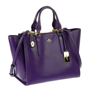 Coach Zebra Crosby Crossbody Satchel in Purple