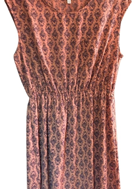 Item - Coral & Navy Above Knee Casual Maxi Dress Size 12 (L)