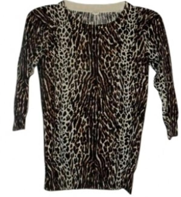 Preload https://img-static.tradesy.com/item/157291/jcrew-leopard-cotton-sweaterpullover-size-0-xs-0-0-650-650.jpg