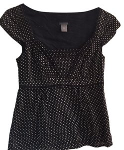Ann Taylor Top Black dot