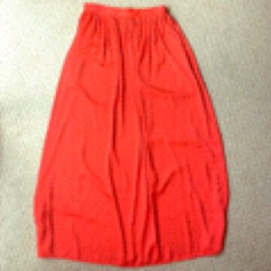 BCBGMAXAZRIA Maxi Skirt Poppy red