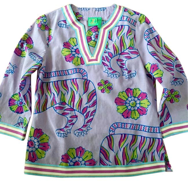 Jules reid Classic Summer Blouse Lilly Pulitzer Tunic Image 0