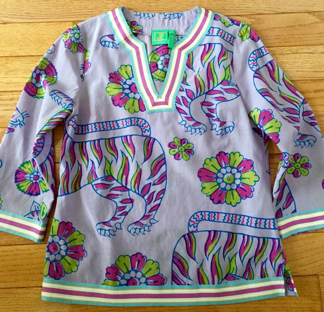 Jules reid Classic Summer Blouse Lilly Pulitzer Tunic Image 3
