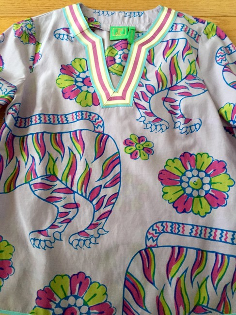 Jules reid Classic Summer Blouse Lilly Pulitzer Tunic Image 5