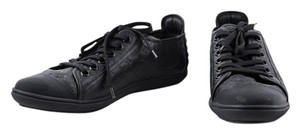 Louis Vuitton Embossed Lether Sneakers black Athletic