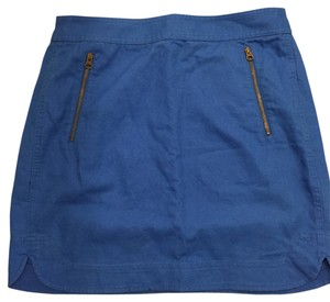 J.Crew Zipper Formal Mini Skirt Cobalt blue