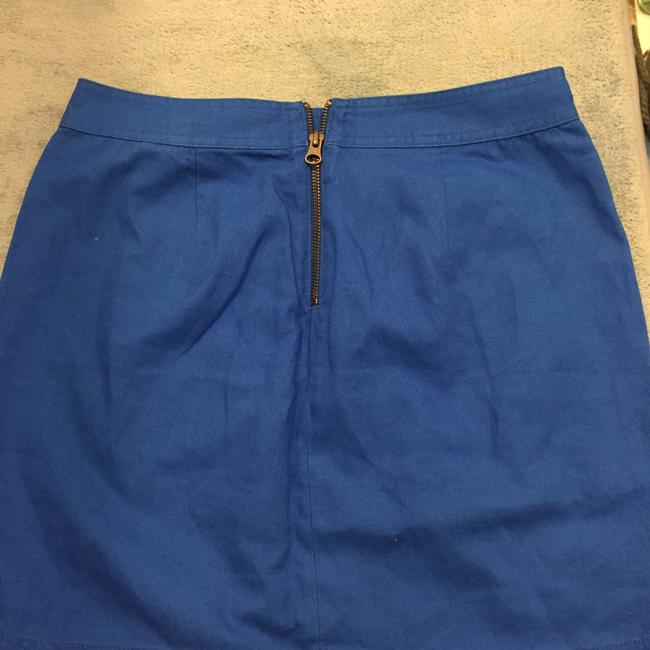 J.Crew Zipper Formal Mini Skirt Cobalt blue Image 1