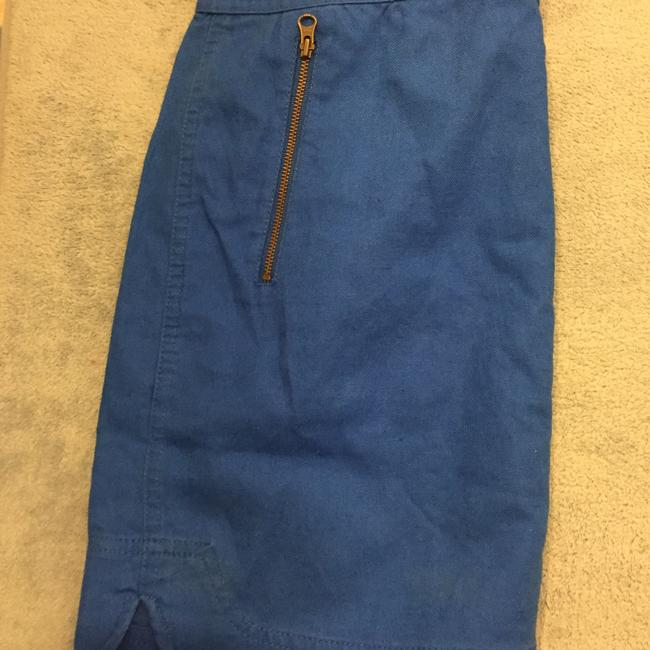 J.Crew Zipper Formal Mini Skirt Cobalt blue Image 2