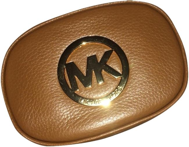 Item - Camel Leather Travel Pouch Cosmetic Bag