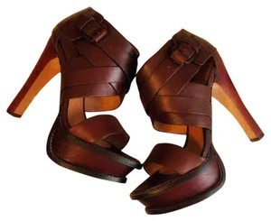 L.A.M.B. Caged Rich Mahogany Brown Platforms