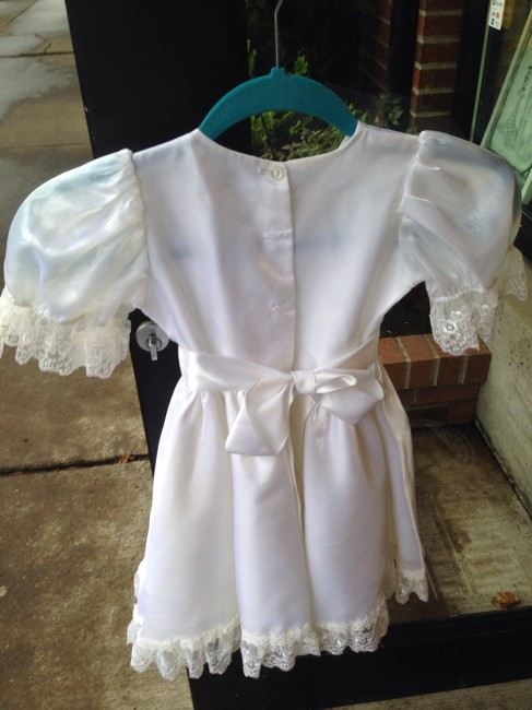 Other Christening Baptism Wedding Little Girls Lace Lace Trim Dress