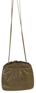 Judith Leiber Nude Clutch Snake Embossed Cross Body Bag