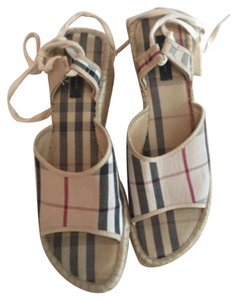 Burberry Wedge Espadrilles nova check Sandals