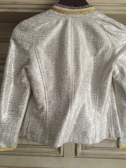 Marciano Ivory Silver Gold Jacket