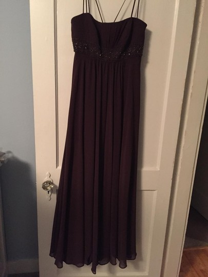 David's Bridal Truffle Chiffon #f12495 Formal Dress Size 4 (S)