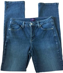 NYDJ Size 8 Straight Leg Jeans-Medium Wash