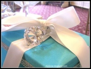 Silver/Clear Large Over Sized Diamond Ring Reception Decoration