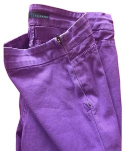 Zara Colorful Bright Professional Work Business Trouser Pants Purple
