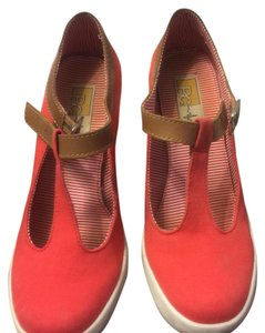 BC Footwear Red Wedges