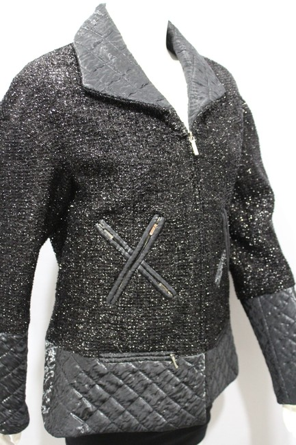 Chanel Women Women Long Cocktail Tie Military Jacket Image 10