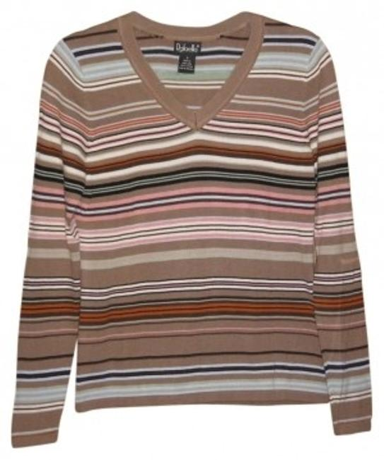 Preload https://img-static.tradesy.com/item/157338/rafaella-brown-multi-stripe-sweaterpullover-size-6-s-0-0-650-650.jpg