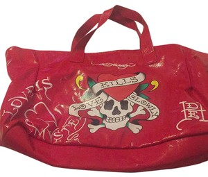 Ed Hardy Tote in Red