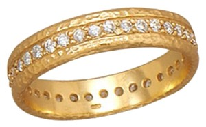 Sterling Collections 14 Karat Gold Plated CZ Eternity Ring