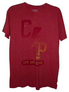 Chip and Pepper Summer Paper Thin Festival Trendy Distressed T Shirt Pink