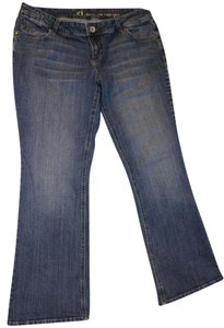 L.E.I. Junior Plus Crystal Stud Flare Leg Jeans-Medium Wash
