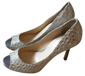 Enzo Angiolini Silver and white Pumps