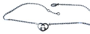 Gucci Sterling Silver Gucci Necklace with Signature Heart Pendant