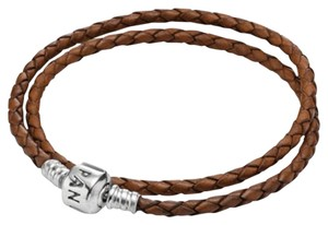 PANDORA Pandora Brown Double Leather Bracelet