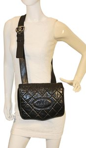 Chanel Lambskin Crossbody Vintage Black Messenger Bag