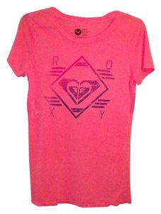 Roxy Summer Trendy Surf Beach Festival T Shirt Pink