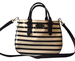 Kate Spade Satchel in Cream and Black striped