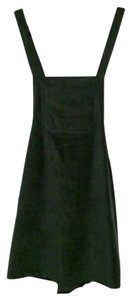 Zara short dress Green velvet on Tradesy