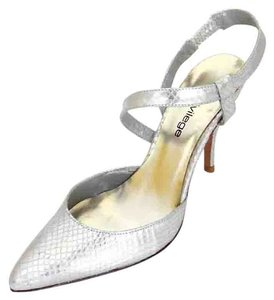 Other Slingback Imported Spain Printed Python silver Formal