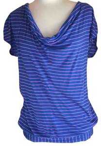 Splendid T Shirt Cobalt blue and pink