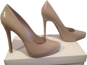 Rachel Roy Stiletto Beige patent Platforms