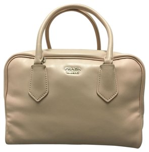 Prada Leather Satchel in Pink and Pistachio