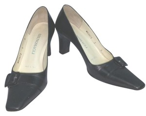 Bruno Magli Black Leather Pumps