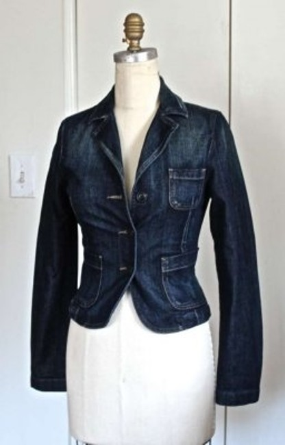 Preload https://item5.tradesy.com/images/united-colors-of-benetton-dark-blue-lady-s-jean-tie-waist-four-front-spring-jacket-size-6-s-157364-0-0.jpg?width=400&height=650