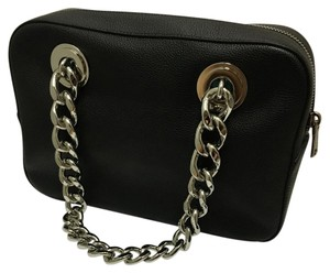 Prada Silver Hardware Leather Chain Shoulder Bag