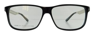 Marc by Marc Jacobs New Marc By Marc Jacobs MMJ 608 RMG Black Silver Acetate Full-Frame Eyeglasses 56mm