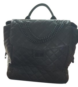 Forever 21 Chanel-esque Wheelie Quilted Black Travel Bag