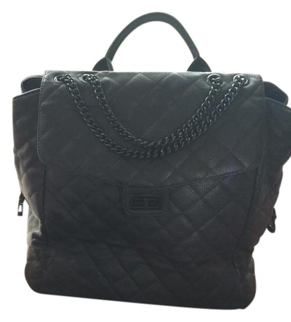 Item - Wheelie Black Faux Quilted Leather Weekend/Travel Bag