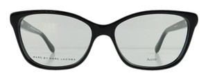 Marc by Marc Jacobs New Marc By Marc Jacobs MMJ 571 29A Black Silver Full-Frame Acetate Eyeglasses 54mm
