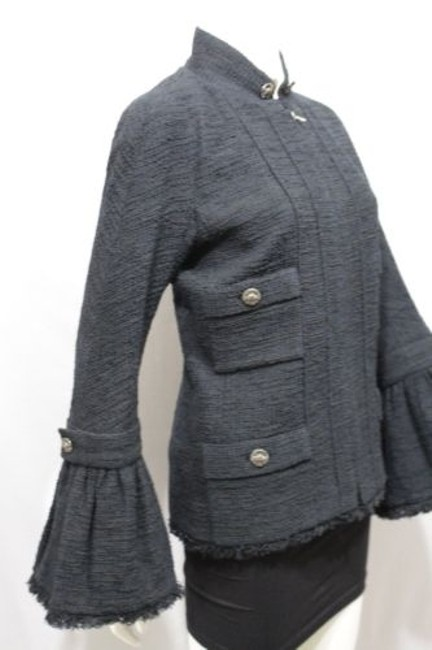 Chanel Cocktail Bell Silk Neck Military Jacket Image 11