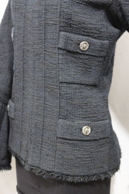 Chanel Cocktail Bell Silk Neck Military Jacket Image 4