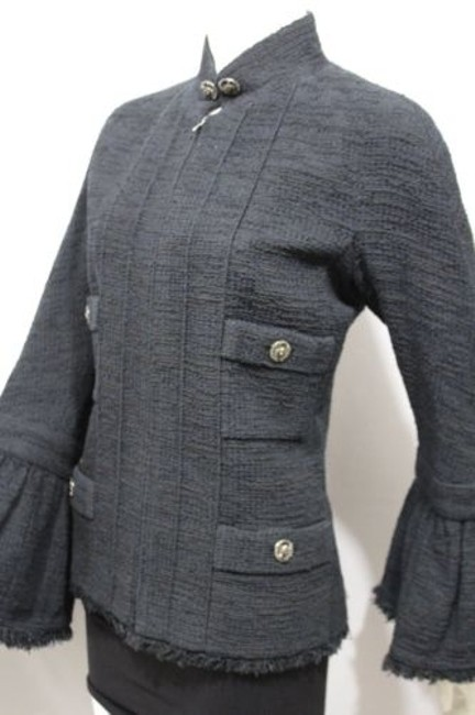 Chanel Cocktail Bell Silk Neck Military Jacket Image 6
